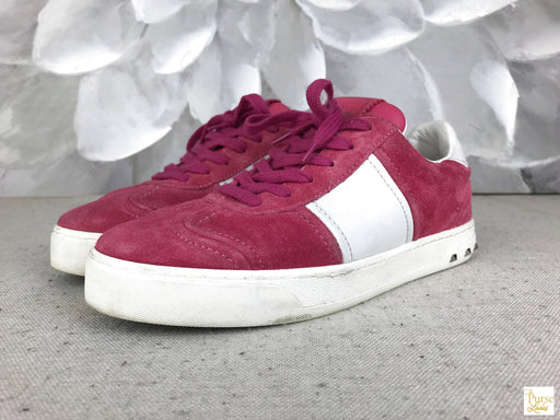 Valentino Suede Fly Crew Sneakers Size 36.5