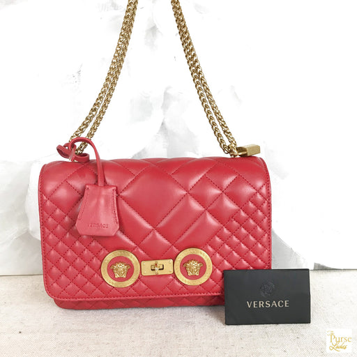 VERSACE Red Icon Medium Crossbody