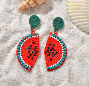 Beaded Fruit Earrings