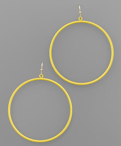 Color Coat Circle Earrings