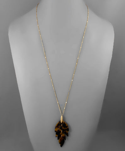 Resin Leaf Necklace