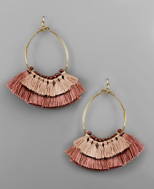 Marquee Layered Tassel Earrings