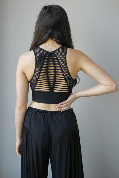 Laser Cut Seemless Sports Bra