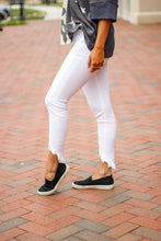 High Rise Ankle Skinny White Denim