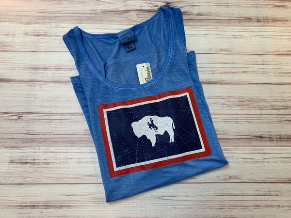 LWT WYO FLAG TANK TOP