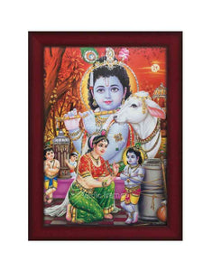 Yashodha tying Little Krishna with rope glow sand finish