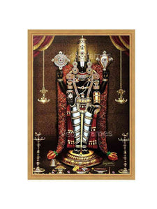 Lord Venkateshwara with rose mala