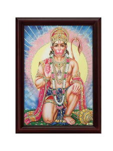 Hanuman in kneeling posture glow sand finish