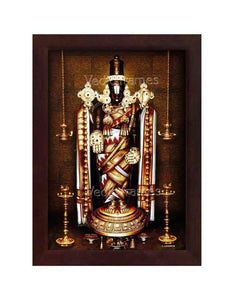 Lord Venkateshwara in white and red vasthram