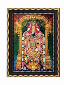 Lord Venkateshwara with multicolour background