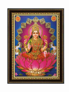 Lakshmi under golden arch gloiw sand finish