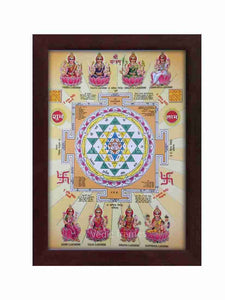Astalakshmi with yantra glow sand finish