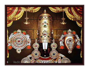 Lord Venkateshwara thirumugam with sangu chakram