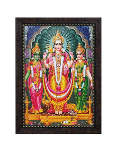Lord Muruga with Valli Deivanai in multi arch background