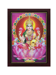 Goddess Lakshmi under multicolour arch
