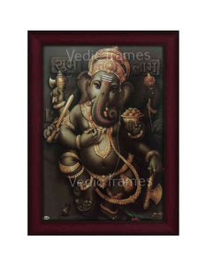 Dancing Ganapathi in grey background