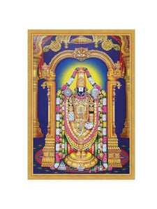 Lord Venkateshwara in golden colour arch