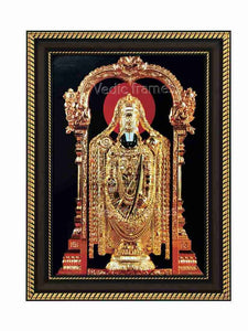 Lord Balaji with golden ornaments