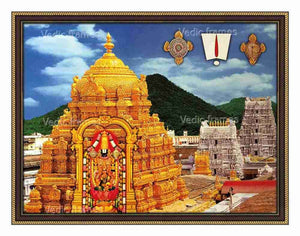 Lakshmi Venkateswara with thirumala Gopuram background
