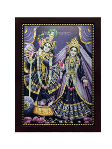 Radha Krishna in purple background