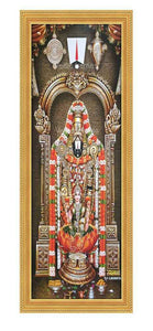 Lakshmi Venkateshwara under arch with Sangu Chakra Thirunamam on top Vertical