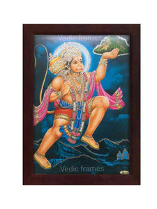 Hanuman in deep blue background glow sand finish