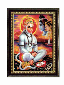 Hanuman meditating in river bank