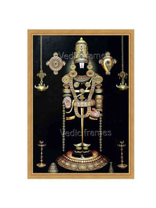 Lord Balaji with sangu chakram and sara vilakku