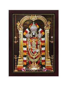 Lord Venkateshwara with white stoned crown