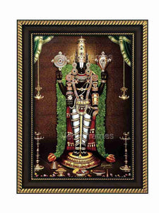 Lord Venkateshwara with thulasi garland