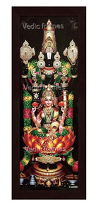 Lakshmi Venkateswara with multi color garland Vertical