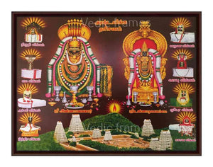 Sri Annamalaiyar with Sri Unnamalaiyammai surrounded by ashtalingam