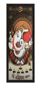 Lord Ganesha with Om and Swastik symbol