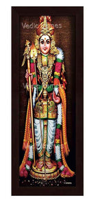 Lord Karthikeya in sanctum background