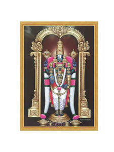 Lord Venkateshwara with white and rose garland