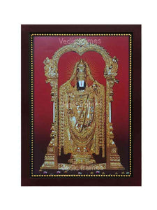 Lord Venkateshwara in golden ornaments