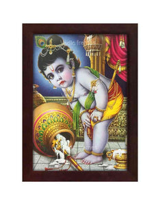Little Krishna with fallen pot