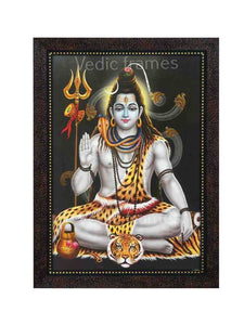 Lord Shiva in grey background