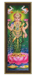 Lakshmi standing on lotus Vertical