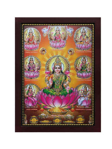 Astalakshmi in red background glow sand finish