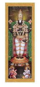 Lord Balaji with sangu chakram, Garudan and Hanuman (Vertical image)