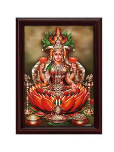 Goddess Lakshmi with Kalasam and vilakku