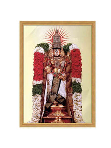 Lord Balaji utsavar with ivory background
