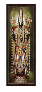 Lord Balaji with gold Salagrama Haaram (Vertical)