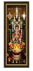 Lakshmi Venkateswara with Thulasi garland in sanctum Vertical