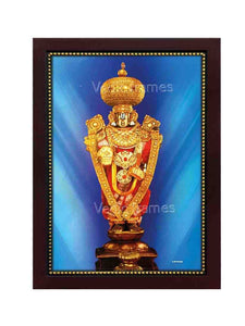 Lord Balaji utsavar with blue background