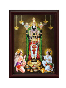 Lord Venkateshwara with Garudan and Hanuman