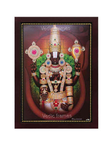Lord Balaji with thulasi garland and sangu chakram