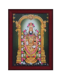 Lord Venkateshwara with sara vilakku