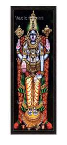 Lord Vishnu with stoned crown, sangu chakram and lotus garland